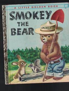 Smokey-the-Bear-Little-Golden-Book-1st-Print-Jane-Werner-Richard-Scarry