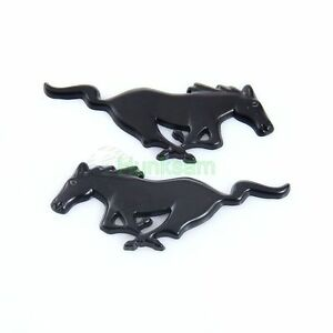 2xRunning Horse Pony Badge Logo Emblem Fender 3D Decal Stickers For Ford Mustang