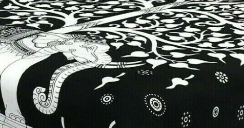 Pure Cotton White Elephant /& Tree Print Double Bed Sheet With 2 Pillow Cover j.g