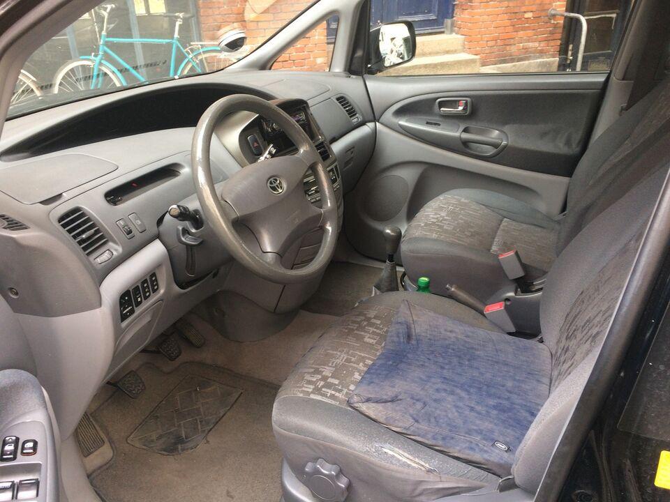 Toyota Previa 2,4 MPV, 2001, 7 pers, mørk blå/s...