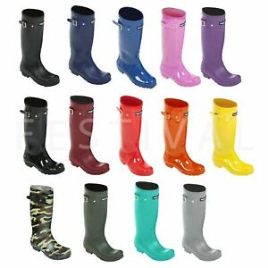 Womens-Ladies-Girls-Tall-Festival-Wellies-Wellington-Boots-Size-3-4-5-6-7-8-9