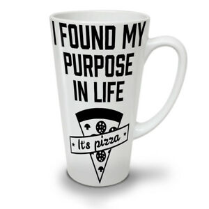 Pizza Purpose Life NEW White Tea Coffee Latte Mug 12 17 oz   Wellcoda