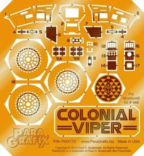 COLONIAL VIPER MK I FIGHTER ETCH MOE 175 PARAGRAFIX 1//32 BATTLESTAR GALACTICA