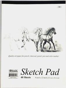 9-X-12-pulgadas-40-Hojas-Calidad-Premium-Sketch-Book-Papel-de-dibujo-Pad-pulgadas