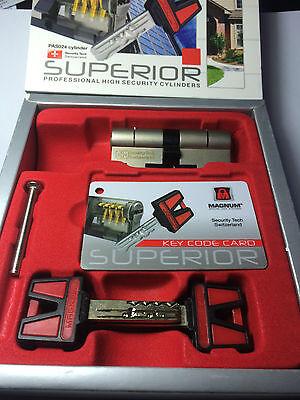 MAGNUM SUPERIOR HIGH SECURITY 70mm Euro Cylinder 5 Keys Office Door Mul T lock