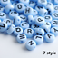 NEW-200-1000pcs-7mm-Mixed-A-Z-Alphabet-Letter-Acrylic-Spacer-Beads-heart-bead thumbnail 22