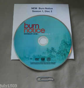 (1) NEW Burn Notice Season 1 Disc 2 Replacement DVD - Single Disc