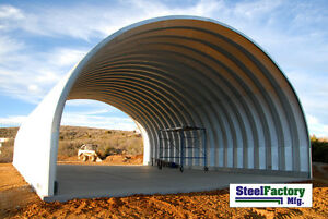 Steel-Factory-Mfg-S30x50x17-Prefab-Metal-Arch-Cover-Storage-Building-RV-Shelter