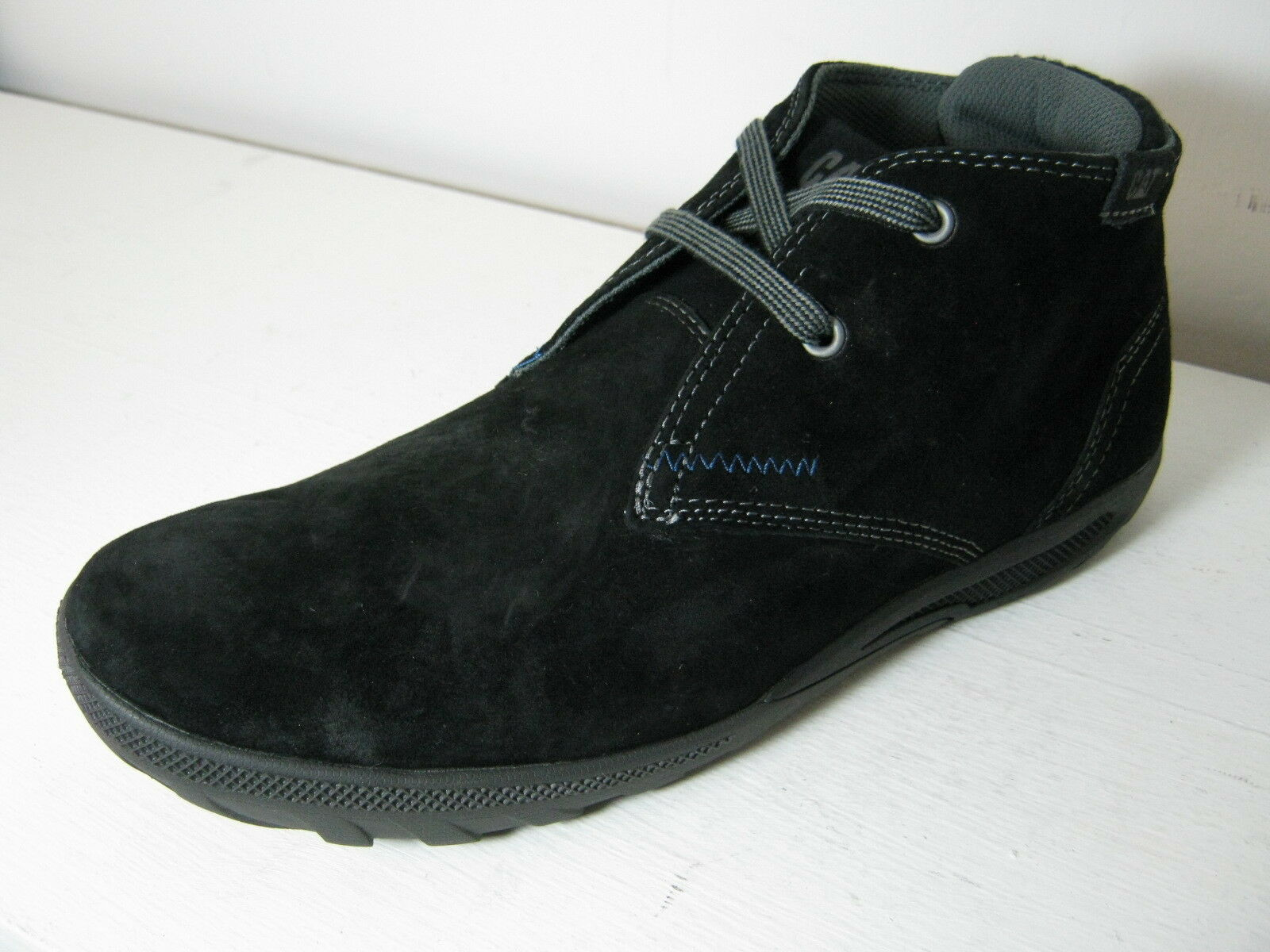 Hombre Hombre Hombre Caterpillar Crump Mid Negro, Peat Or Gull Gris Suede Leather Lace Up botas e22267