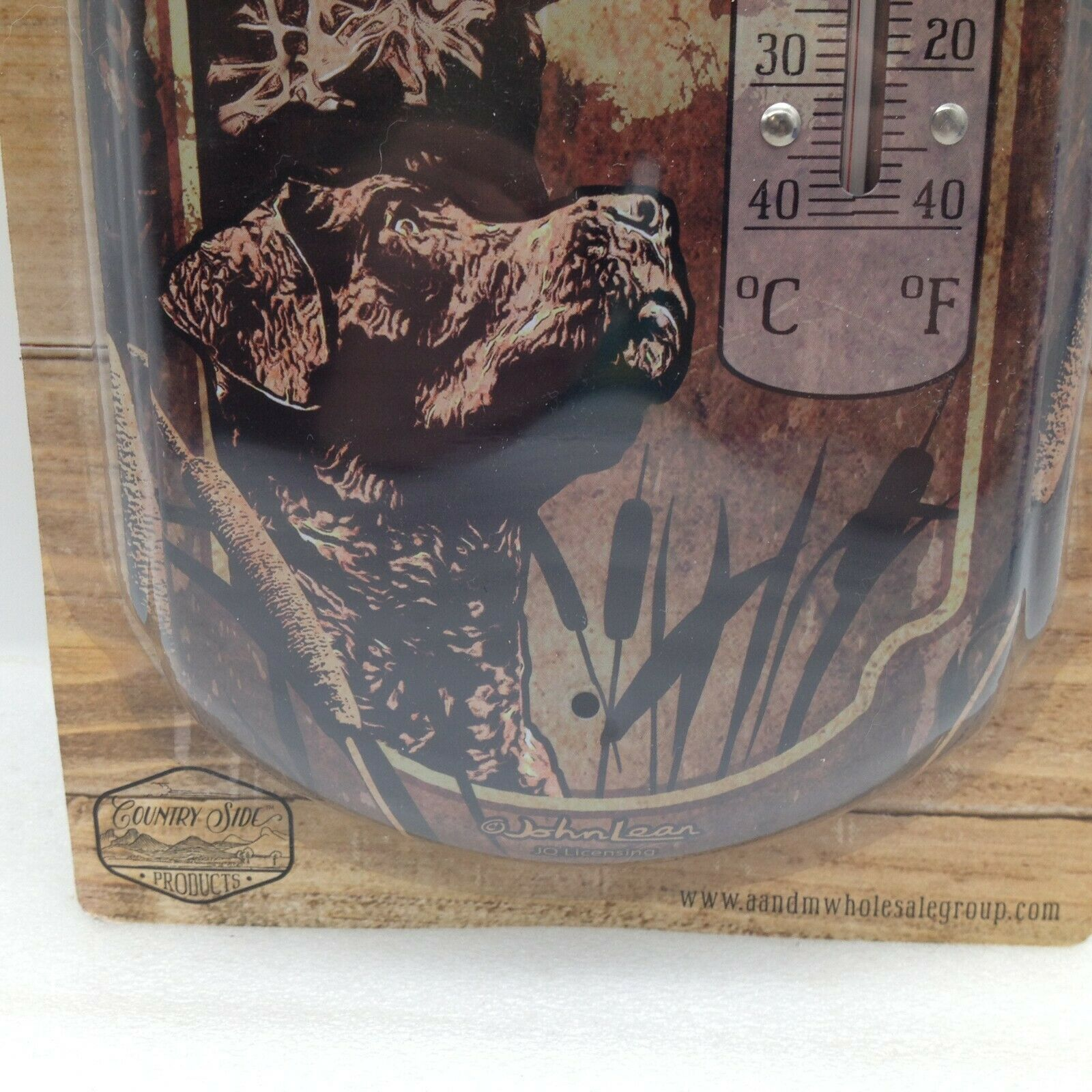 If Were Missing Were Hunting Indoor Outdoor Thermometer Metal 17.5 in Dad Gift