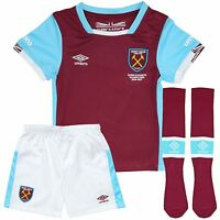 West Ham Home Kit Shirt And Shorts & Socks Childrens 100% Official Whu Umbro
