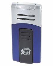 Colibri 412004 Quantum Syndicate Single Flame Cigar Lighter Blue Matte Silver