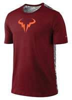 Nike Rafa Ss Crew Neck Tee Shirt 688582-677 Team Red Rafael Nadal Tennis