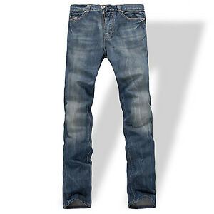 FOX-JEANS-Men-039-s-Gerald-Classic-Comfort-Fit-Straight-Blue-Denim-Jeans-SIZE-42