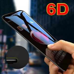 6D Full Cover Tempered Glass On The for iPhone X XR XS Max 6 6s 7 8 Plus Screen Protector for iPhone 6 X 10 S 3D Glass Film for iPhone Xs - Black