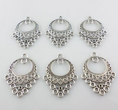 12//36pcs Tibetan Silver Earring//Necklace Connectors Charms Pendants 24x31mm