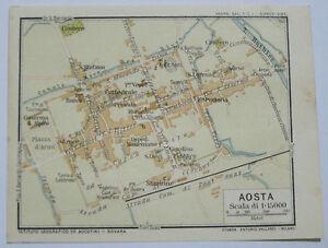Cartina Della Valle D Aosta Da Stampare.Dettagli Su Stampa Antica Old Print Mappa Carta Pianta Valle Val D Aosta Aosta 1914