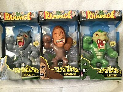 Rampage Video Movie Set Of 3 George Lizzie Ralph Stretch Lanard