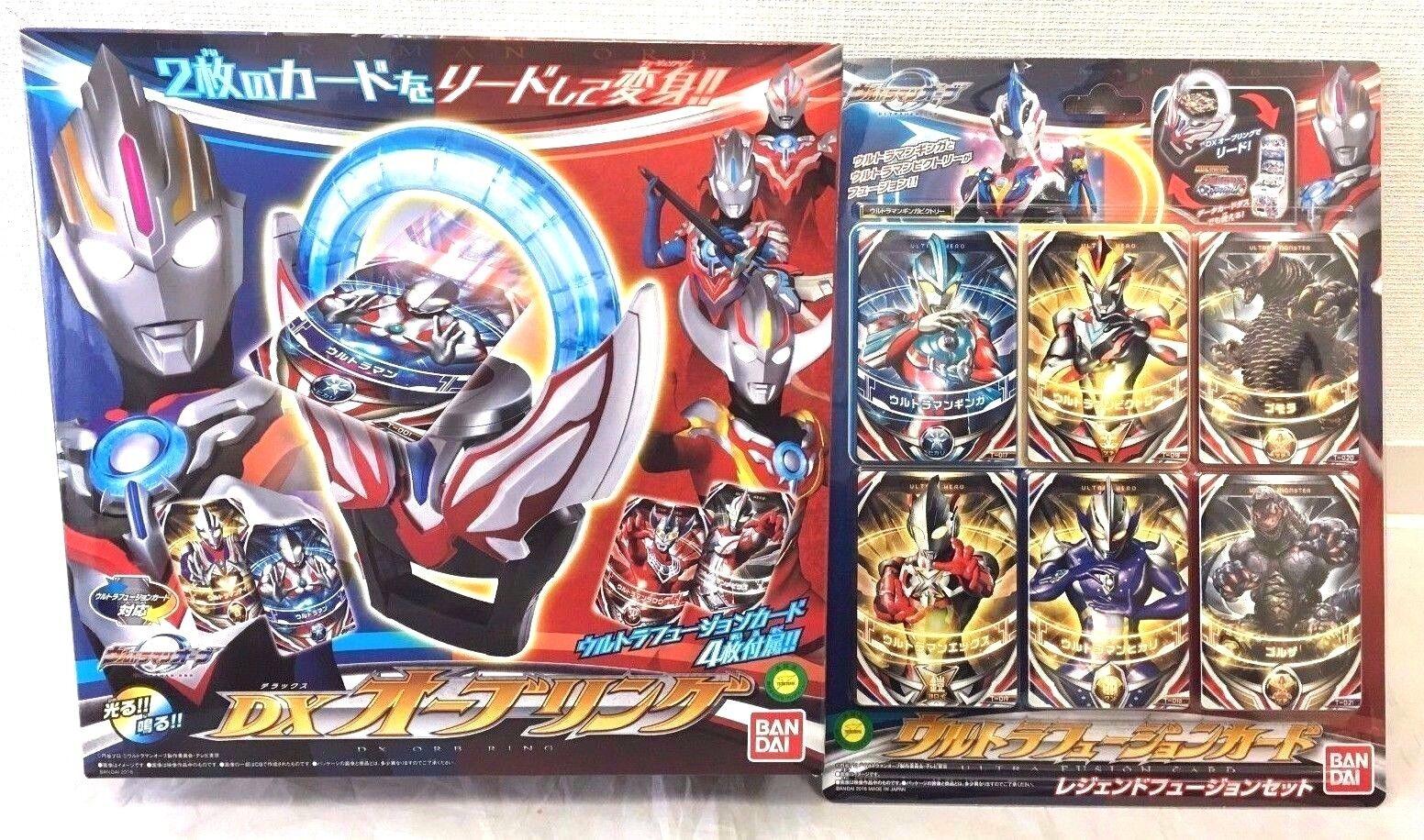 Bandai Ultraman Orb Dx Anello & Ultra Fusion Carta Leggenda Set Giappone Nuovo