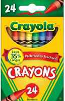 Crayola Classic Color Pack Crayons, 24 Count $5.99 Free Shipping