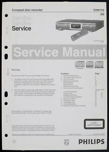 Philips Cdr770 Original Cd-recorder Service-manual/diagram/partslist O196 Eine GroßE Auswahl An Modellen Anleitungen & Schaltbilder