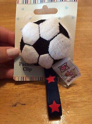 dummy pacifier clip baby girl boy unisex soccer special soccer ball clip