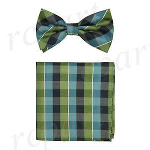 Men/'s microfiber Pre-tied Bow Tie /& hankie set Pink plaids /& checkers formal