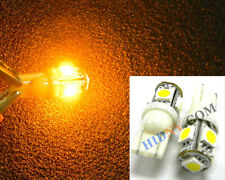 T10 2825 W5W  5-SMD 360-Degree Wide Angel 5050-SMD LED Light Bulbs AMBER