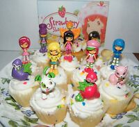 Strawberry Shortcake Cake Toppers Set Of 12 With Berrykins, Custard The Cat Etc
