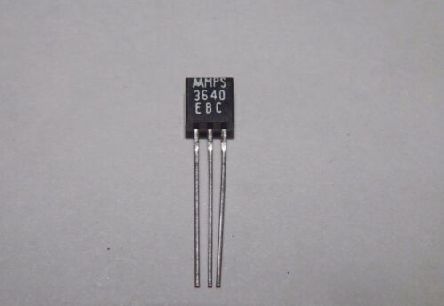 12V MPS3640 TO-92 Motorola Bipolar Silicon Transistor 3R1B,EC13 0.08A PNP