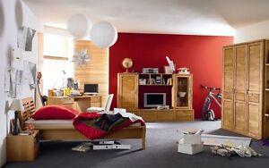 VOLO 4-teiliges Komplett Jugendzimmer Kinderzimmer Erle Massiv mit ...