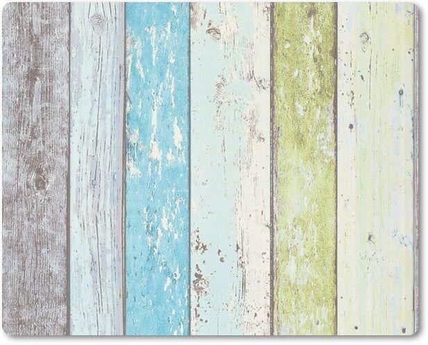 Vliestapete AS Surfing & Sailing 855077 Bretterwand Holzwand blau grün braun