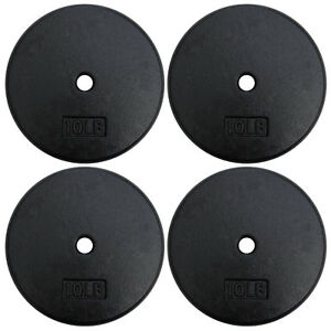 A2ZCARE-Standard-1-inch-Cast-Iron-Weight-Plates-10-15-20-25-lbs-Single-Pair-Set