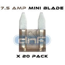 20 PACK 7.5 AMP ATS/ATC MINI BLADE 12V AUTOMOBILE FUSE - FREE SAME DAY SHIPPING!