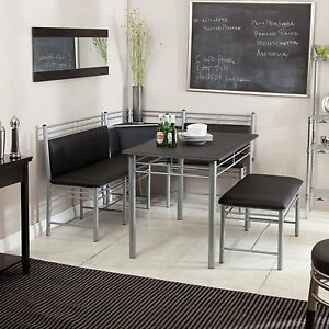 Image Is Loading Dining Table Set 5 Piece Modern Bench Kitchen