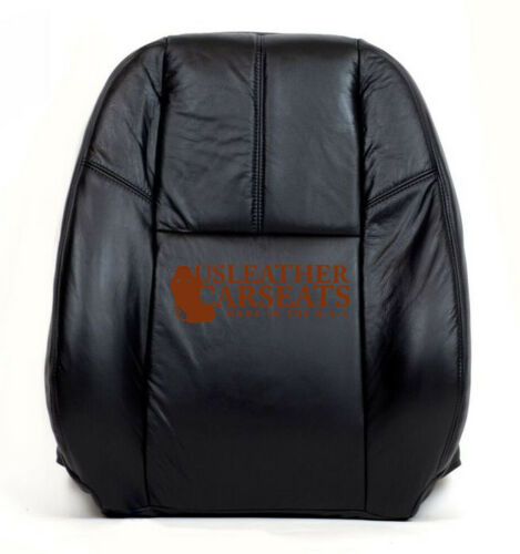07 08 09-13 Chevy Suburban Tahoe Driver Side Lean Back Leather Seat Cover Black