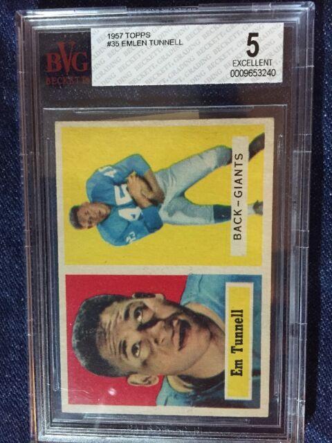 Emlen Tunnell 1957 Topps Football #35 New York Giants