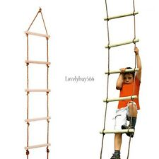 Wooden Climbing Rope Ladder for Playground/Outdoor Tree Swing set 330lbs LO