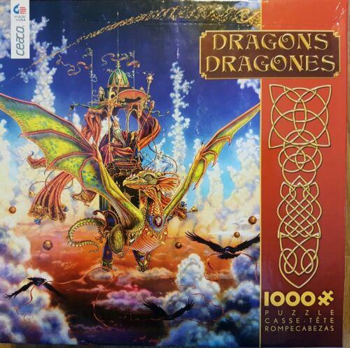 1000 Pièce Jigsaw Ceaco Ed Barbe vol draconique (Entièrement neuf dans sa boîte)