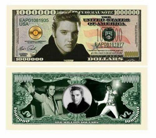 Elvis Presley Million Dollar Bill 1 5 10 15 20 25 30 35 40 50 100