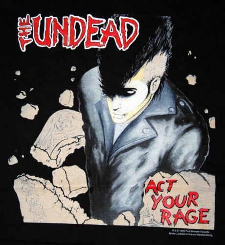 Vintage T-Shirt The Undead Act Your Rage TEE NEW - Size XL - RAR