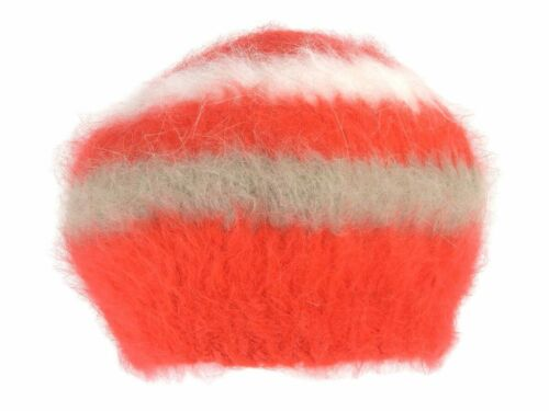 GUCCI Beret Ladies Angola Farr Red White Beige M 5