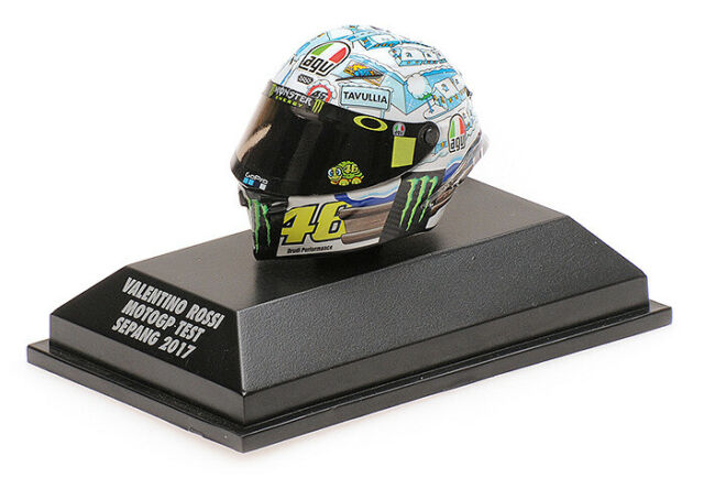 Agv Helmet Casco Valentino Rossi Test Sepang 2017 MINICHAMPS 1:8 399170076 Model