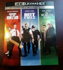 SHAUN-OF-THE-DEAD-HOT-FUZZ-WORLD-039-S-END-4K-Blu-ray-FREE-SHIP-Horror-SciFi