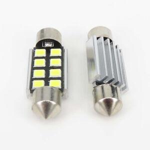 2-X-6000K-Blanco-36mm-Bombilla-LED-T10-CANBUS-FESTOON-PARA-INTERIOR-Y-MATR-CULA