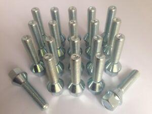 16 X M12 X 1.5 Pernos de rueda cónica Zinc hilo de 37mm