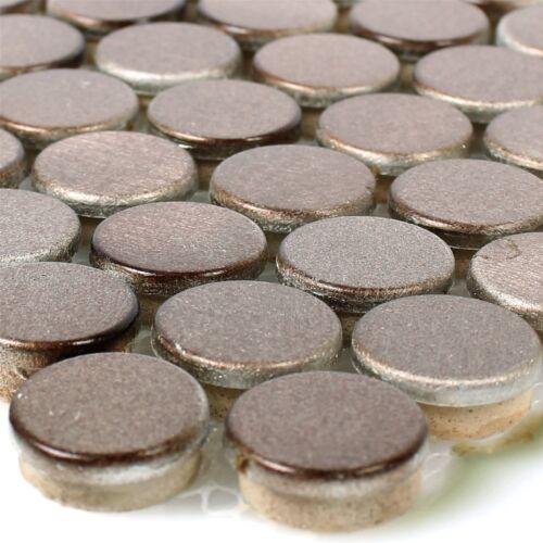 MUSTER von Mosaikfliesen Aluminium Metall Fantom Knopf Bronze für Küche Wand Bad