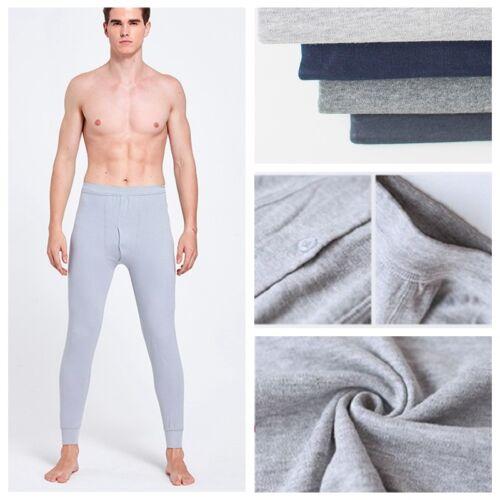 Men Cotton Long Johns Loungewear Pajamas Bottom Trouser Pant Underwear Nightgown