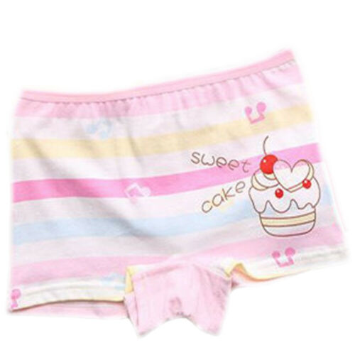 Girls Childrens Kids Underwear Knickers Shorts Briefs Cake Stripes Pants M L XL