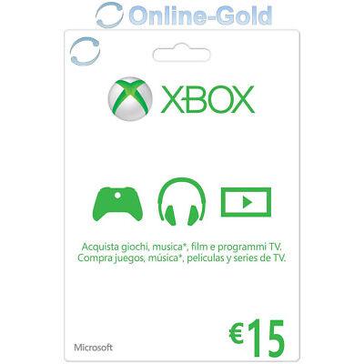 15 EUR Buono regalo digitale Xbox - €15 Euro prepagato Codice Xbox One 360 - IT
